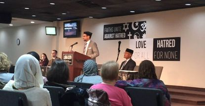 Interfaith service seeks to promote message of peace
