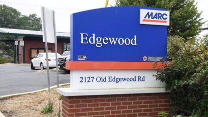 MARC train station in Edgewood