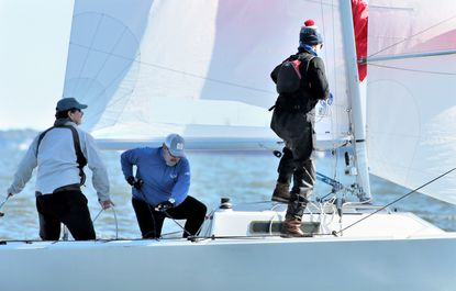 Hot Toddy, skippered by Jeff Todd, which won the J/22 East Coast Championship last weekend.