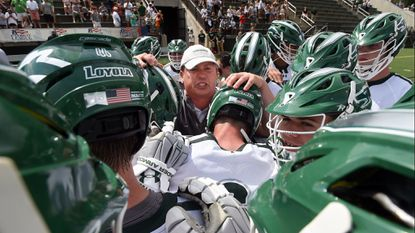 Loyola Maryland men's lacrosse coach Charley Toomey, shown in April, is not worried about his team's mental state after suffering a 13-12 loss in double overtime at Virginia.