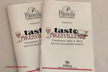 A Taste of Pikesville event programs.