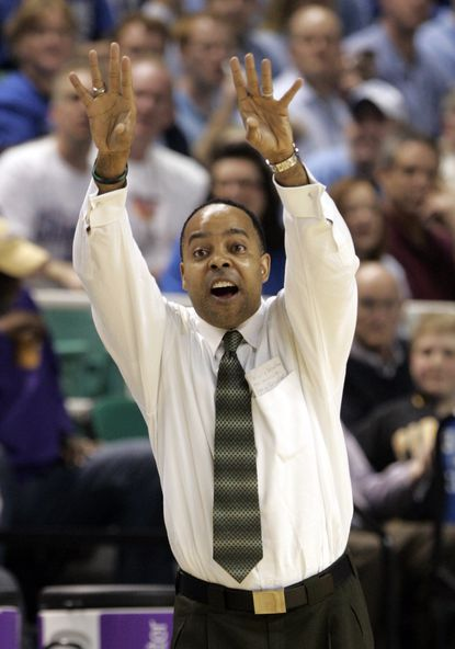 Kevin Broadus was an assistant coach at Georgetown and head coach at Binghamton.