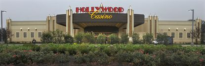 """The Hollywood Casino in Perryville had a rainy day for the """"soft"""" opening on Monday."""