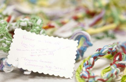 Lines of Love, a group based out of Centennial High School, is sending bracelets to Sandy Hook Elementary students.