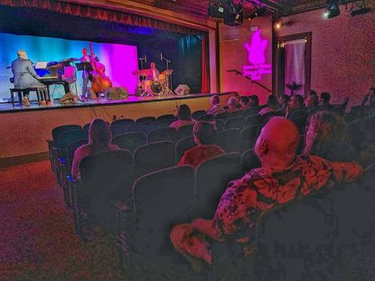 Jazz enthusiasts enjoy the music of the Eric Byrd Trio in the newly remodeled Opera House for the first annual Havre de Grace Jazz & Blues Fest Sunday afternoon.