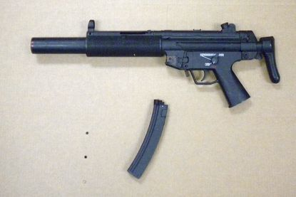 """Maryland State Police say a juvenile in a vehicle being driven by a Sykesville man pointed this """"very realistic, but toy gun"""" at a motorist in Westminster on Jan. 11."""