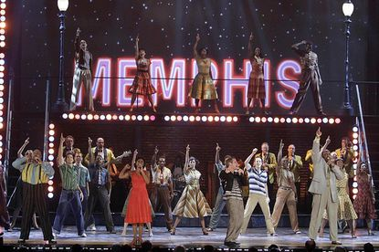 """The cast of """"Memphis"""" trots out a big number at the 64th annual Tony Awards."""