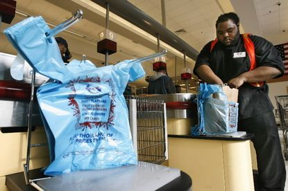 Howard County is debating a fee on plastic bags to encourage recycling.