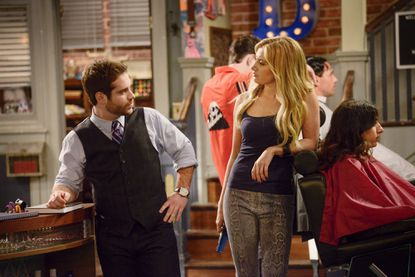 """Ryan Pinkston plays Ben, a Boston barbershop owner, alongside Ashley Tisdale in the new TBS show """"Clipped,"""" which premieres June 16."""