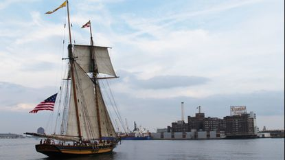 Pride of Baltimore II clipper is headed for the Great Lakes