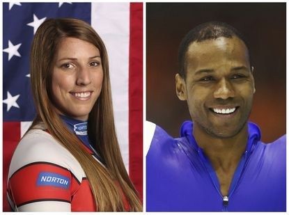 U.S. Olympians Erin Hamlin and Shani Davis. A tweet posted to the account of Davis is blasting the selection of luge athlete Hamlin as the U.S. flagbearer for the opening ceremony at the Pyeongchang Games.