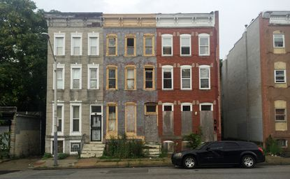 These abandoned Baltimore apartments, shown on July 29, are the former homes of some victims of lead paint poisoning.