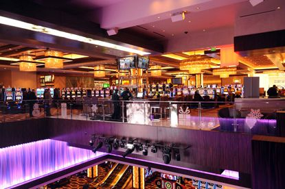 Revenues edged up slightly in January at the Baltimore casino while falling overall for the state's five casinos.