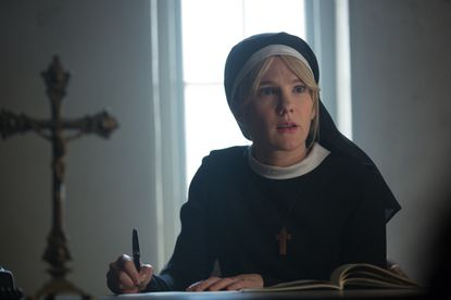 "Lily Rabe stars as Sister Mary Eunice in the episode ""Orphans."""