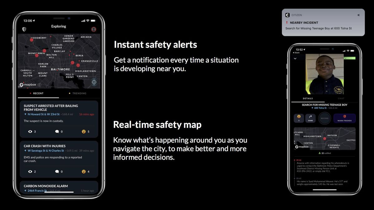 Makers launch Citizen app, which alerts users to nearby crime, in