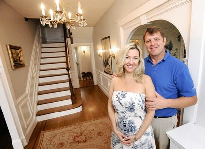 Jeff Lipkin and his wife, Mary Veiga, in their Cedarcroft dream home.