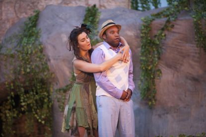 """Francesca Marie Chilcote and Doug Robinson in a scene from """"The Tempest."""""""