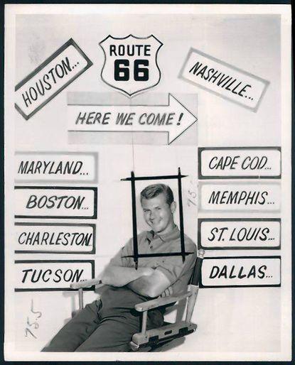 """""""Route 66"""" star Martin Milner in 1961."""
