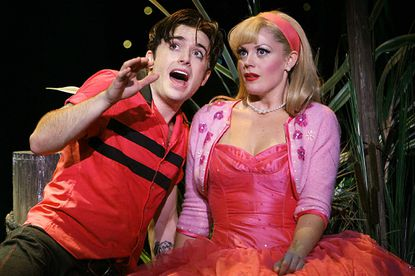James Snyder, as Cry Baby, and Elizabeth Stanley, as Allison, perform in The La Jolla Playhouse¿s production of Cry Baby at the La Jolla Playhouse in La Jolla.