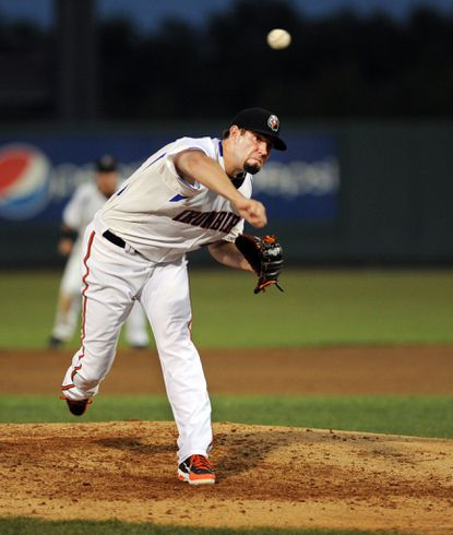Jason Hammel pitched for the Aberdeen Ironbirds in a rehab outing Tuesday night.