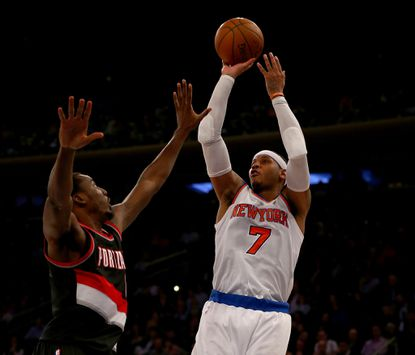 """Carmelo Anthony, right, is designing a clothing line for Macy's inspired by the """"Teenage Mutant Ninja Turtles."""""""