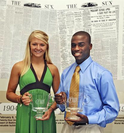 Lacrosse-soccer athlete Allyson Carey (left) and soccer player Chris Agorsor were named The Sun's female and male Athletes of the Year.