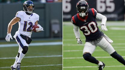 Ravens fourth-year wide receiver and kick returner Michael Campanaro, left, and Texans third-year cornerback Kevin Johnson, teammates at River Hill, will face one another on 'Monday Night Football.'