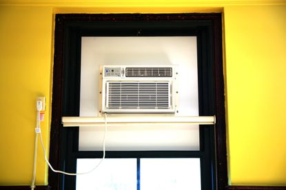 A school air conditioning unit installed at Patrick Henry Elementary School in Chicago in 2014 as part of a broader effort to improve learning conditions in overheated buildings. (Chuck Berman/Chicago Tribune).