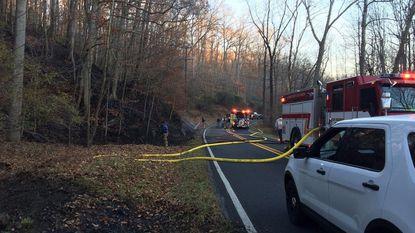 Brush fire ignites near Ridge Road in Marriottsville