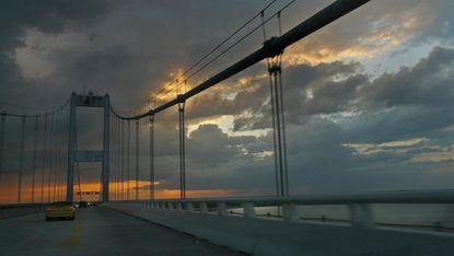 Chesapeake Bay Bridge at sunrise.