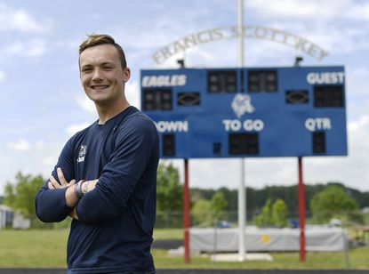 Francis Scott Key senior Justin Rieger says being part of the boys soccer team last fall was a high point of high school.