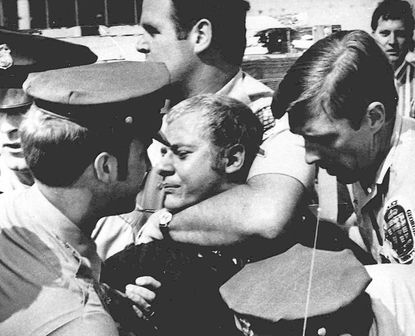 On May 18, 1972, the News Leader ran this photo of Prince George's County police taking Arthur Bremer into custody moments after Bremer shot presidential candidate George Wallace, who was then governor of Alabama.