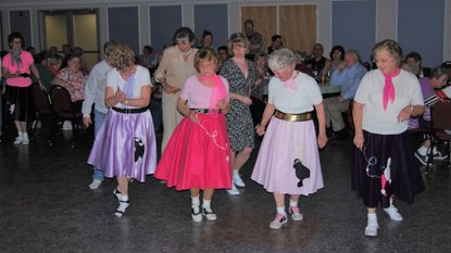 Attendees dance the sock hop held by the Westminster Council of the Knights of Columbus in 2014.