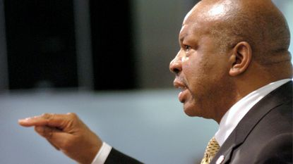 Rep. Elijah Cummings speaks during a two-hour symposium called The Costs of War hosted by he Howard County Coalition for Peace and Justice to discuss the conflicts in Iraq and Afganistan.