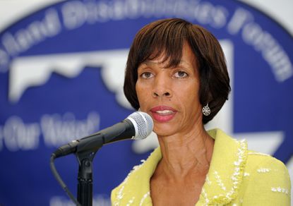 Pugh is serving her second term in the Maryland Senate, representing a district in West Baltimore. She is also a businesswoman who helped found the Baltimore Design School. She announced her candidacy this week.