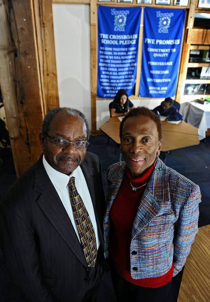 Baltimore area philanthropists Eddie and Sylvia Brown are big contributors to the Crossroads School at the Living Classrooms Foundation.