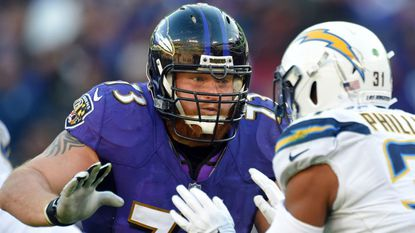Ravens guard Marshal Yanda has appeared in at least 13 games 10 times during his 12 seasons in the NFL.