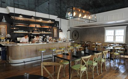 The Cafe is one of four main areas at Johnny's, a new Roland Park restaurant from Foreman Wolf.