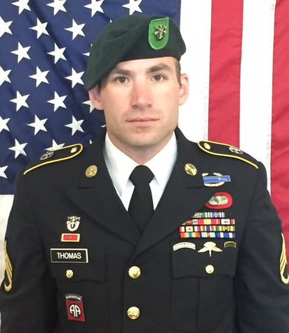 Staff Sgt. Adam S. Thomas was killed in a bomb attack in Afghanistan on October 4. [Credit: Army handout]