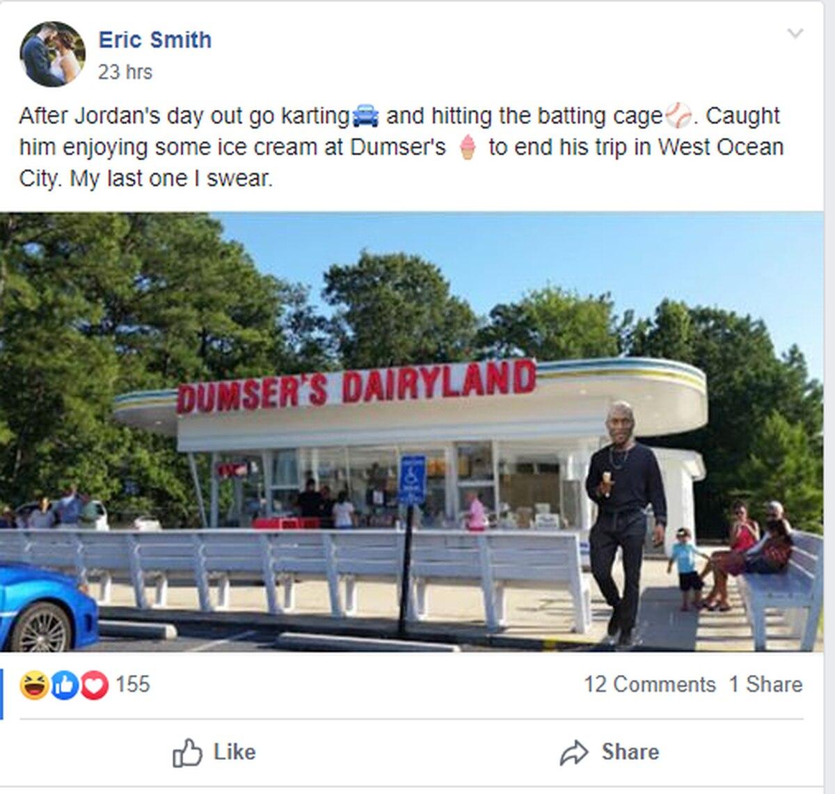 Photoshopped Michael Jordan sightings in Ocean City pepper social