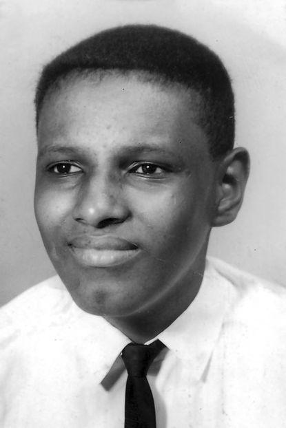 Freeman Hrabowski is pictured at age 13 in Birmingham, Alabama.
