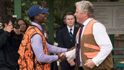 """Brandon Micheal Hall (left) and Tom Wilson star in the episode """"Here Comes the Governor."""""""