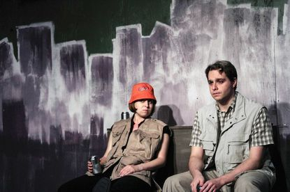 "Ann Fraistat as Destiny and D. Grant Cloyd as Joe in Venus Theatre's ""A Girl Named Destiny."""