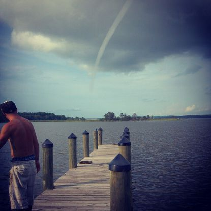 See a photo of Patuxent River waterspout