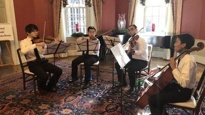 Dulaney String Quartet gets to perform for Governor Hogan, first lady at holiday concert