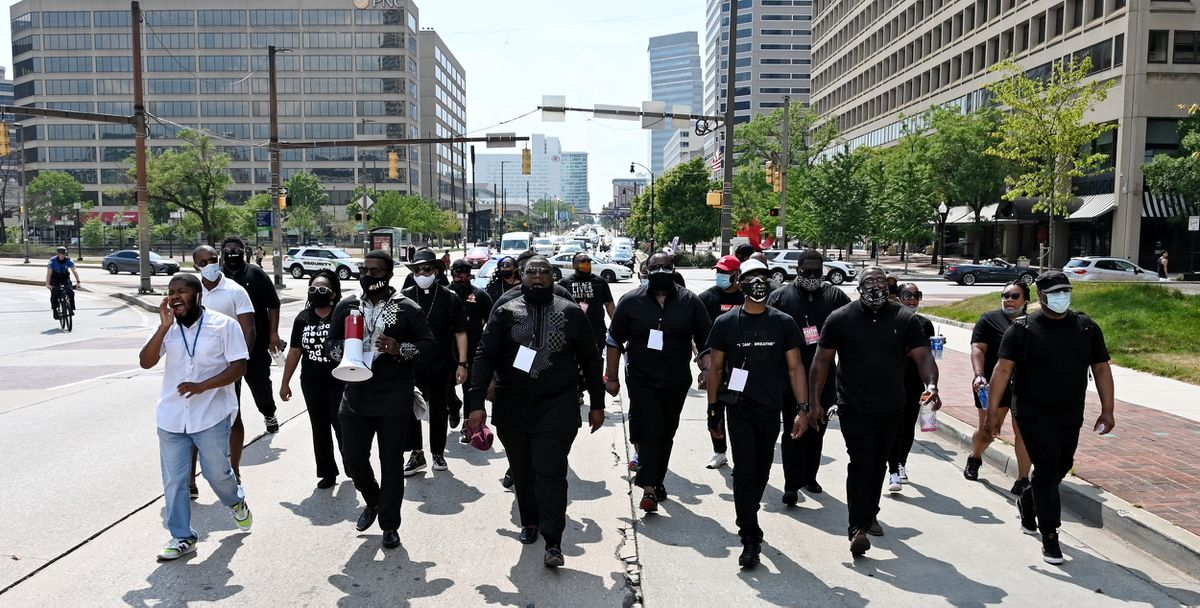 'This isn't a trend': Baltimore faith leaders organize another demonstration in weather-shortened rally, vow to continue
