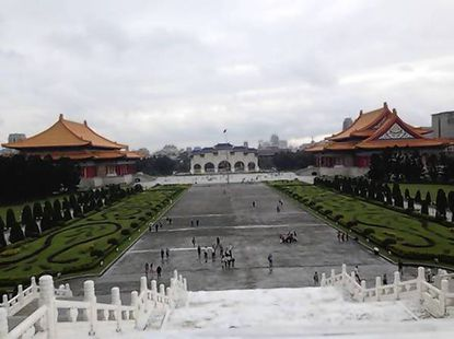 """Guzzone visited the Chiang Kai-shek memorial in Taipei on his trip. """"Whenever I do foreign travel, no matter how different the cultures, it always amazes me how the discussions end up on the same good quality of life issues we all want for our communities,"""" he wrote in a Facebook post."""