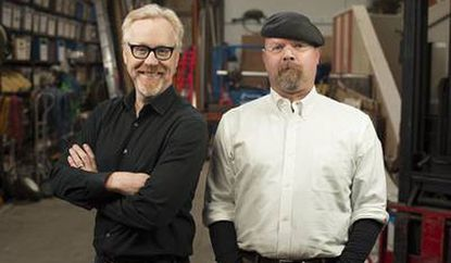 """Adam Savage, left, and Jamie Hyneman of """"Mythbusters"""" will put some of the science shown on """"Breaking Bad"""" to the test."""