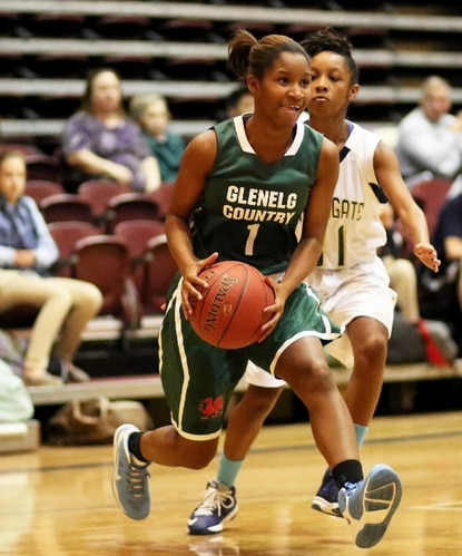 Seen here in this file photo from earlier in the season, Ka'Mari Robinson helped Glenelg Country over Park, 43-25.