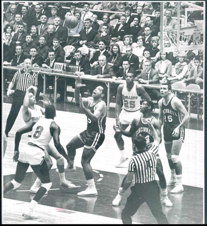 The Baltimore Bullets play a game in 1963.
